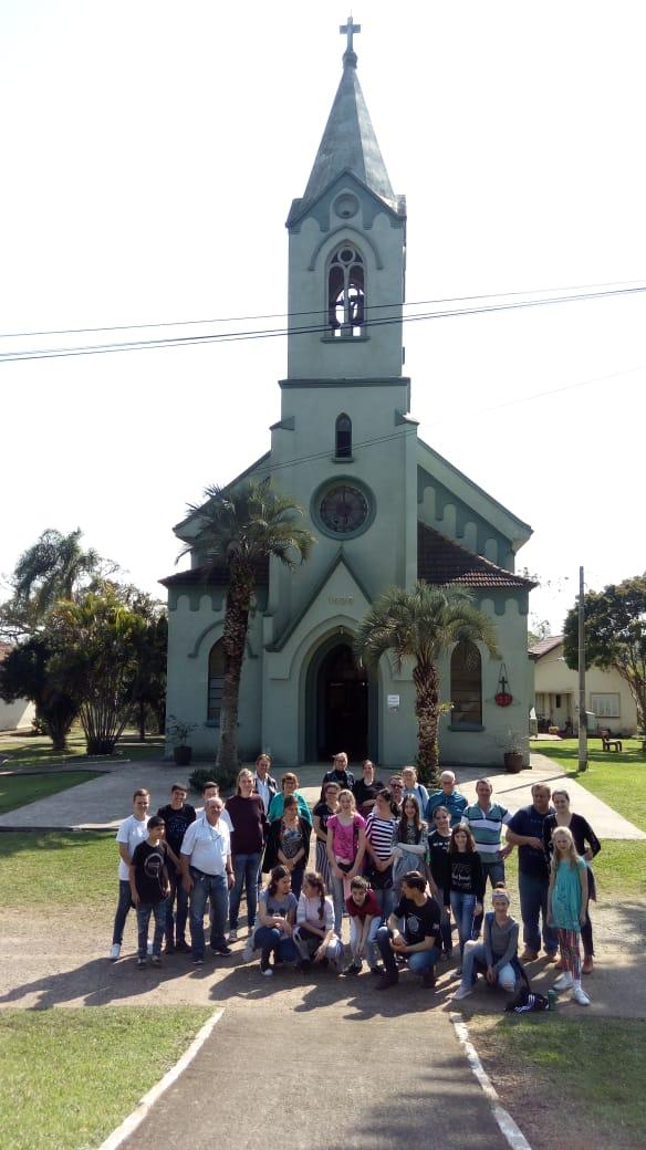 Recebemos visita da Paróquia da Feliz
